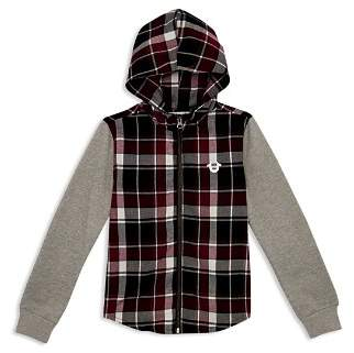 Hudson True Religion Boys' Plaid Color-Block Hoodie - Little Kid, Big Kid