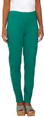 Liz Claiborne New York Regular Hepburn Slim Leg Twill Pants