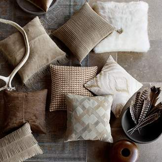 Williams-Sonoma Solid Hide Pillow Cover, Brown