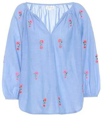 Velvet Martha embroidered cotton blouse