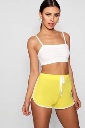 boohoo Petite Megan Tie Detail Running Shorts