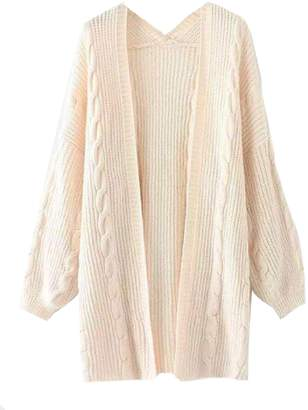 Goodnight Macaroon 'Saundra' Long Cable Knit Pocket Cardigan (2 Colors)