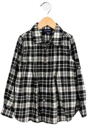 Ralph Lauren Girls' Plaid Button-Up Top
