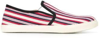 Stella McCartney striped slip-on canvas sneakers