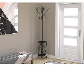 Safdie & Co Coat Rack/Coat Stand/Hanger Stand/Coat Tree-Black Metal/Free Standing with Umbrella Holder