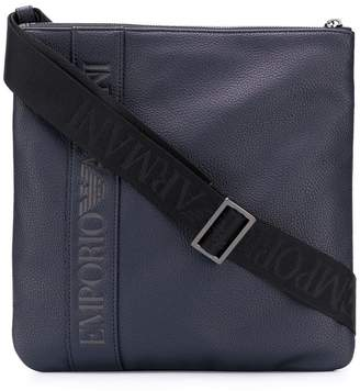Emporio Armani Ea7 embossed logo messenger bag