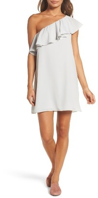 Women's French Connection Polly Plays One-Shoulder Dress $128 thestylecure.com