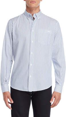 Armani Jeans Blue Stripe Regular Fit Button-Down Shirt