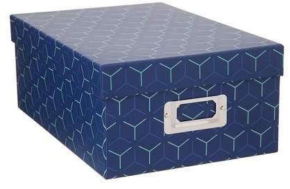 Darice Decorative Photo Storage Box: Blue Y