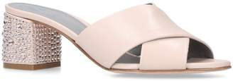 Gina Leather Bourdin Mules 80