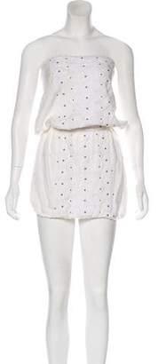 Melissa Odabash Embroidered Strapless Mini Dress