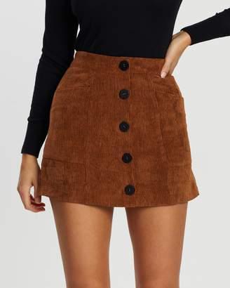Atmos & Here Mollie Cord Mini Skirt