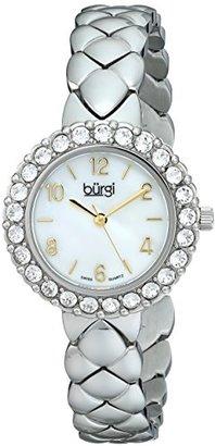 Burgi レディースbur113ssアナログディスプレイスイスクォーツシルバー腕時計