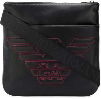 Emporio Armani Hilo logo messenger bag