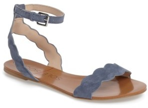 Women's Sole Society 'Odette' Scalloped Ankle Strap Flat Sandal $69.95 thestylecure.com
