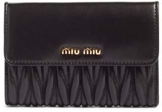 Miu Miu Matelasse Leather French Wallet