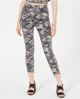 Rewash Juniors' Camo Cropped Skinny Jeans