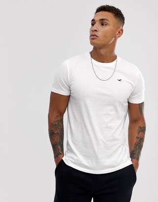 Hollister Muscle Fit Icon Logo T-Shirt in White