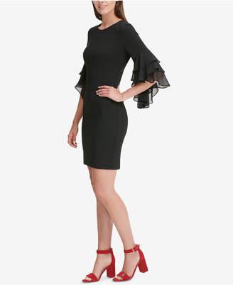 Tommy Hilfiger Ruffled-Sleeve A-Line Dress