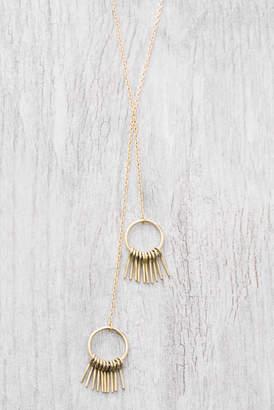 Soko Fringe Hoop Lariat Necklace