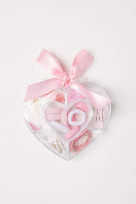 H&M Jar with Hair Accessories - Pink