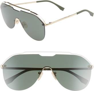 Fendi 137mm Shield Aviator Sunglasses