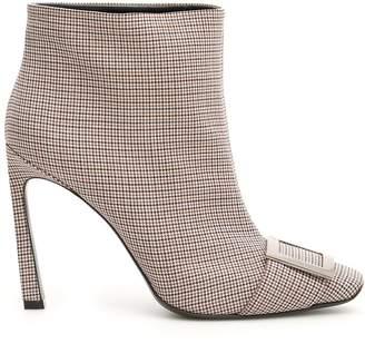 Roger Vivier Fabric Trompette Boots