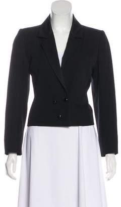 Saint Laurent Cropped Long Sleeve Blazer