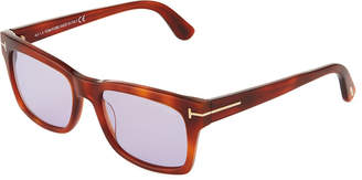 Tom Ford Square Acetate Sunglasses, Brown