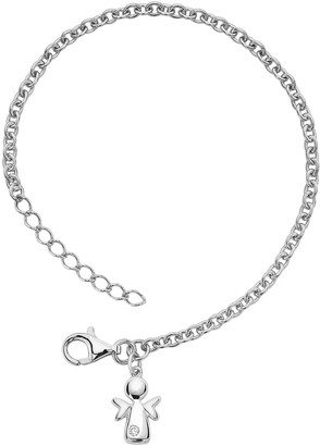 Little Diva Diamonds Sterling Silver Diamond Accent Angel Bracelet - Kids