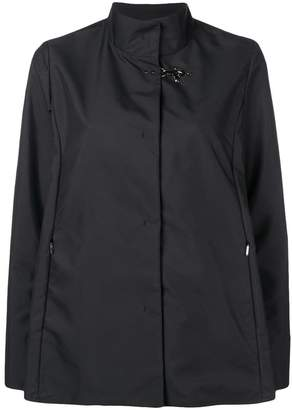 Fay high collar fitted jacket