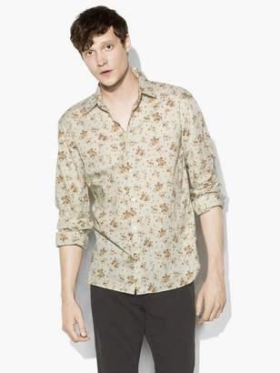 John Varvatos Vintage Floral Print Shirt