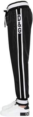 Dolce & Gabbana Logo Band Nylon Track Pants
