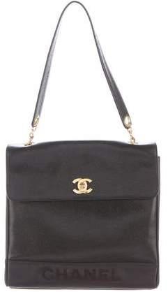 Chanel Caviar Top Handle Flap Bag