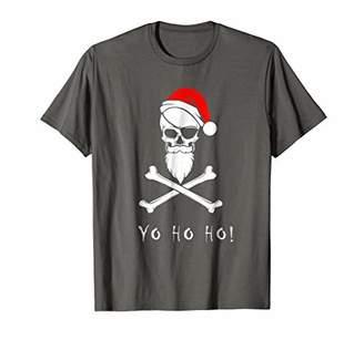 Yo Ho Ho Pirate Christmas Santa Skull Santa Hat T-Shirt
