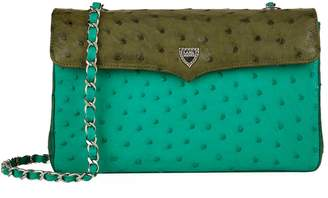 Lana Marks Large Ostrich Chain Bag