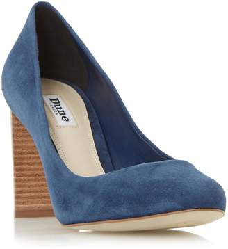 Dune LADIES ALASKA - Round Toe Stacked Heel Court Shoe