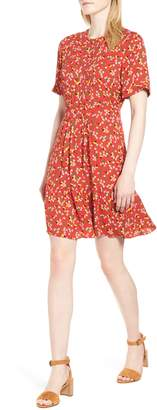 Whistles Peony Print Pleat Dress