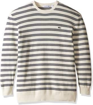 Lacoste Men's Waffle Stitch Stripe Cotton Sweater