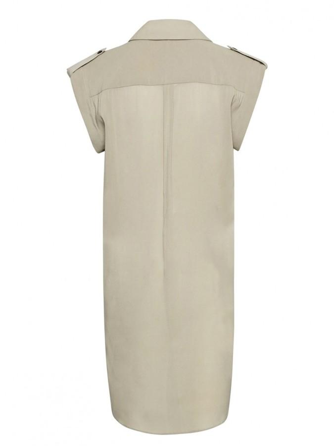 Alice + Olivia Carol Curved Hem Button Down Dress