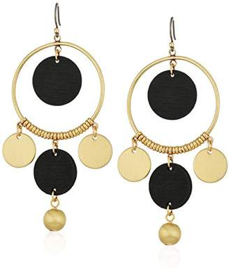 Lucky Brand Womens Wood Statement Earrings