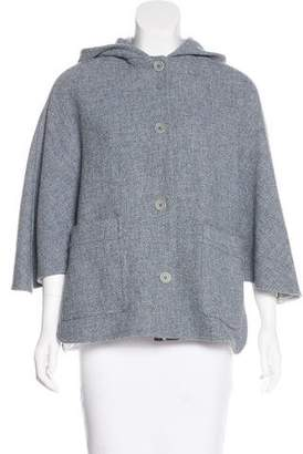 Paul & Joe Wool Hooded Cape