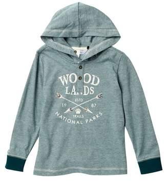 Petit Lem Knit Hooded Sweatshirt (Toddler & Little Boys)
