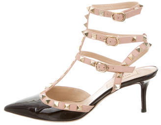 Valentino Rockstud Pointed-Toe Pumps $745 thestylecure.com