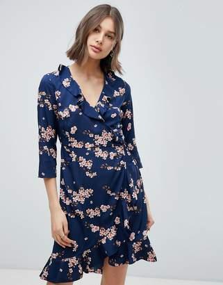 Vero Moda Floral Wrap Dress
