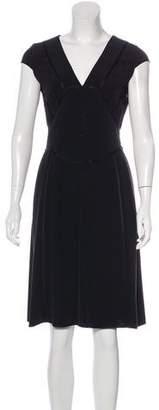 Narciso Rodriguez Short Sleeve Midi Dress
