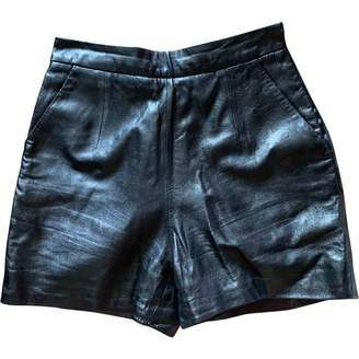 Milly Black Leather Shorts for Women