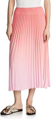 Maje Jonaelle Ombré Pleated Skirt $325 thestylecure.com
