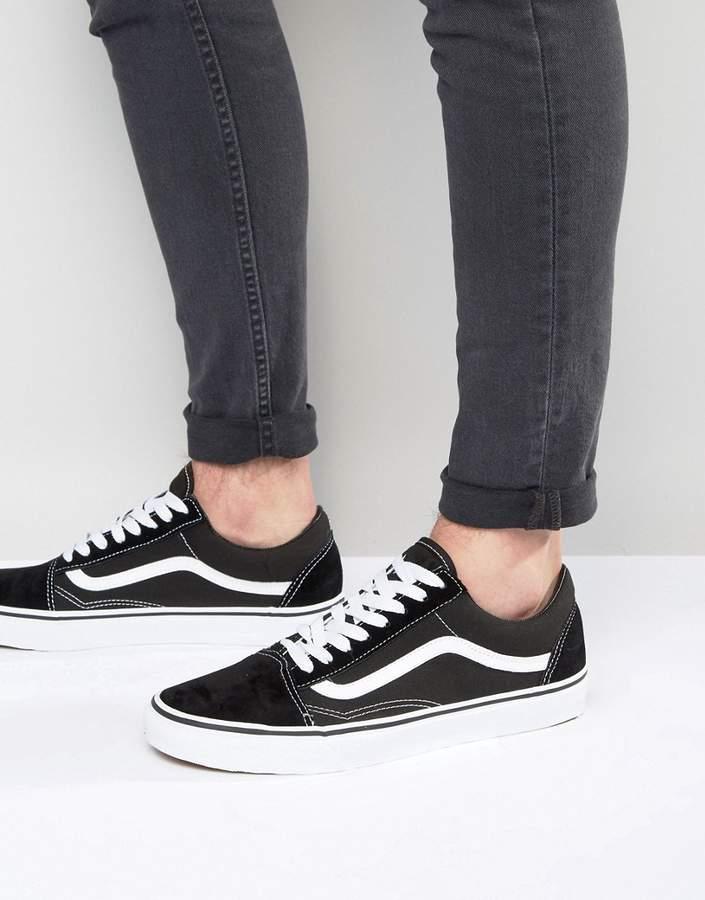 Vans Old Skool Sneakers In Black VD3HY28