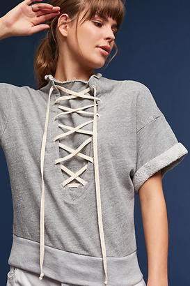 T.La Lace-Up Sweatshirt $78 thestylecure.com